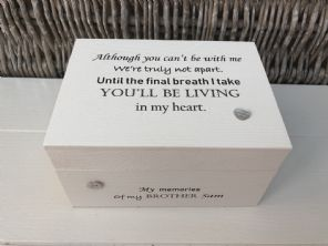 Personalised In Memory Of Box Loved One ~ BROTHER ~ any Name Bereavement Loss - 232741839392